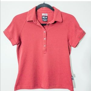 Adidas Climalite S Red Short Sleeve Polo Tee